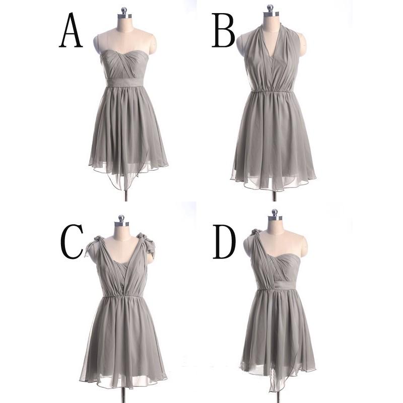short bridesmaid dress, convertible bridesmaid dress, chiffon ...