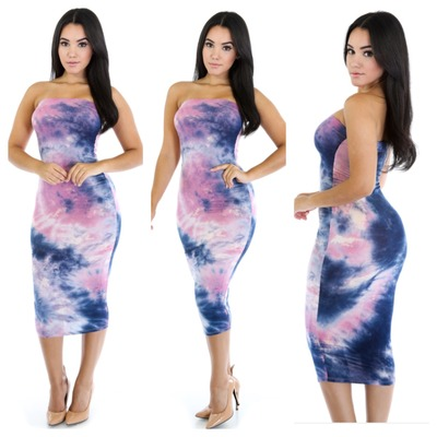 Cotton candy tube dress