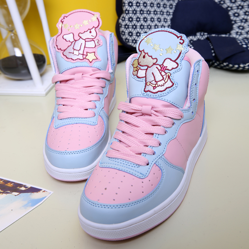 Sweet Ice Cream Little Twin Star Pastel Sneakers Shoes