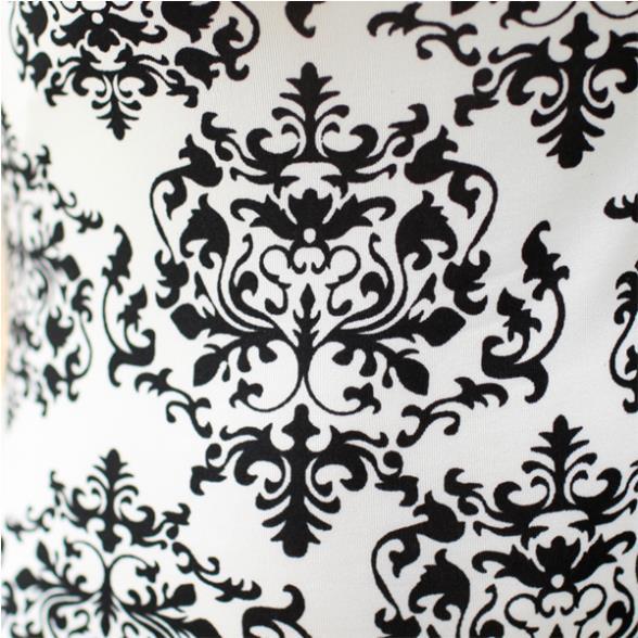 Xs S M Black White Lace Gothic Floral Print Chiffon Long Sleeve Top