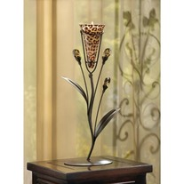 #D1114 LEOPARD LILY SINGLE CANDLE TREE