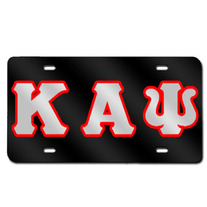 Kappa Alpha Psi License Plate (Black)