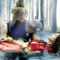 Aeris and Cloud Cosplay Print medium photo