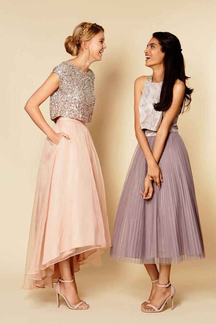 bridesmaid prom dress, tea length prom dress, party prom dress ...