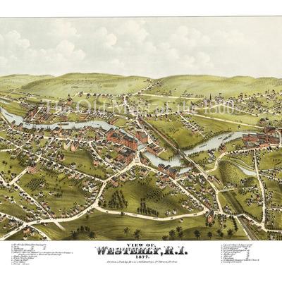 Austin, Minnesota in 1870 - Bird's Eye View, Aerial ...