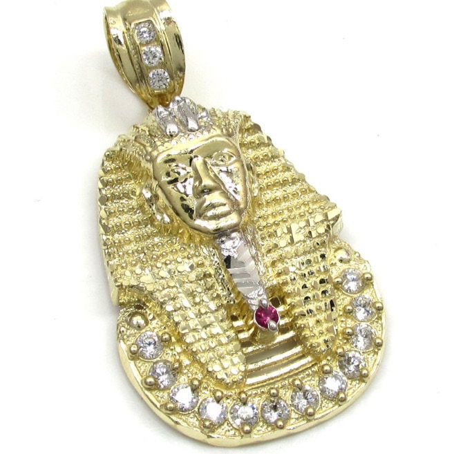 430 grams small mens 10k yellow real gold king tut pharaoh egypt 430 grams small mens 10k yellow real gold king tut pharaoh egypt charm pendant thumbnail aloadofball Choice Image