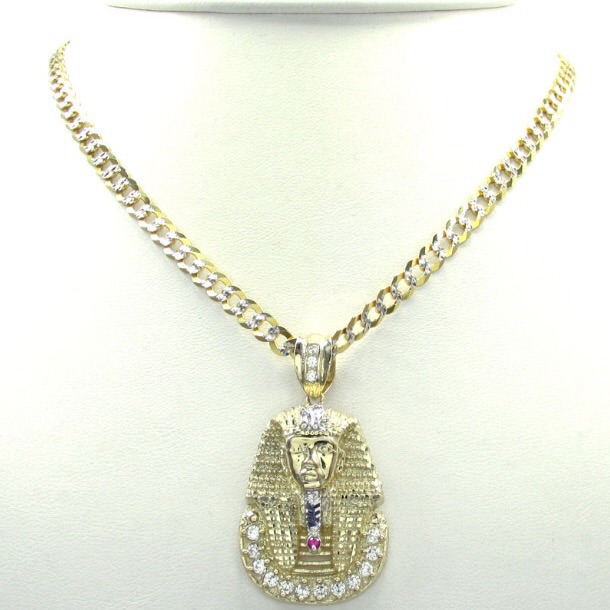430 grams small mens 10k yellow real gold king tut pharaoh egypt 430 grams small mens 10k yellow real gold king tut pharaoh egypt charm pendant thumbnail aloadofball Gallery