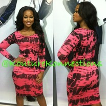 Coral Tiedye dress