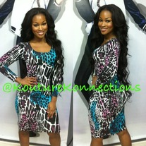 Cheetah multicolored dress