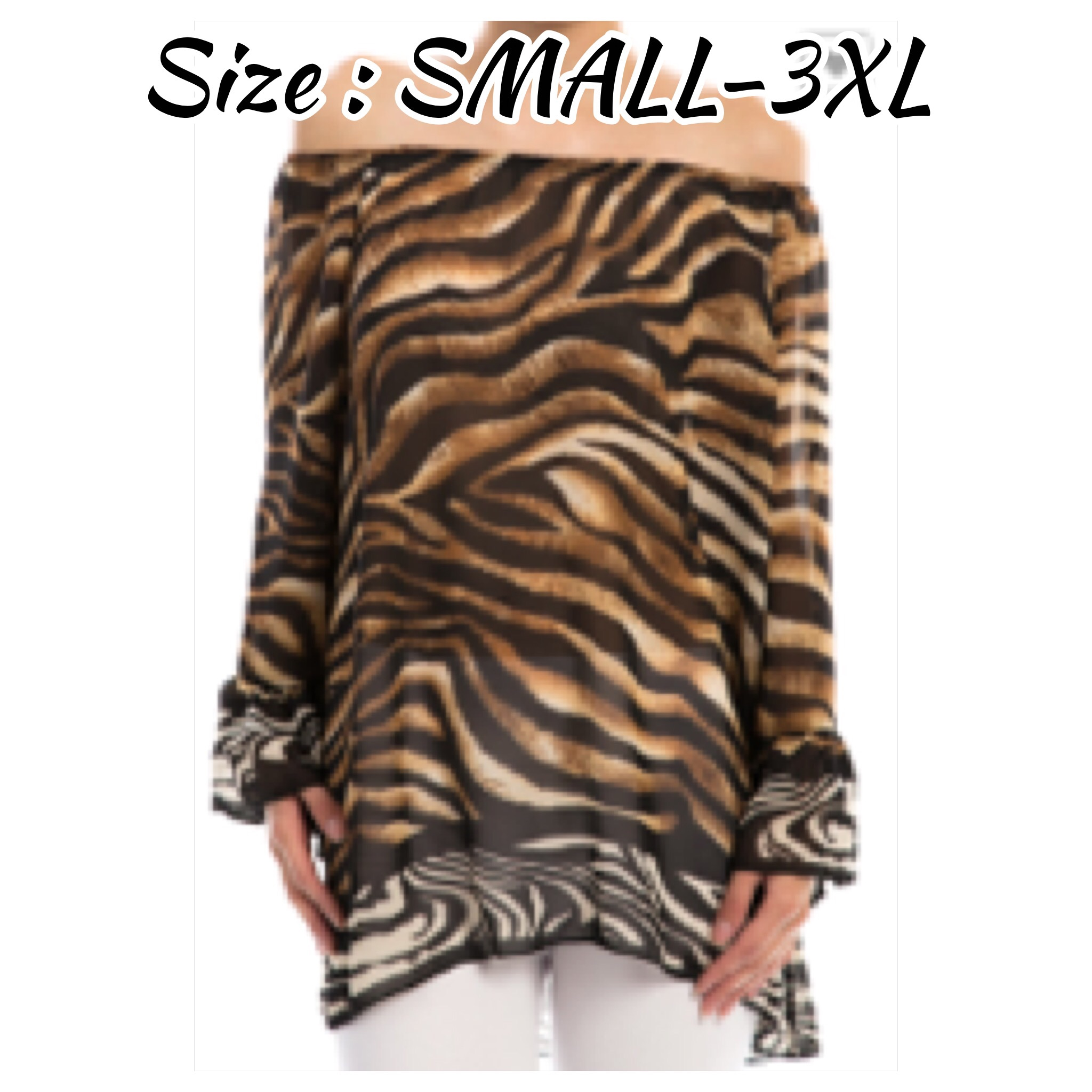 STANDARD & PLUS Animal Print Off the shoulder Design Top ...
