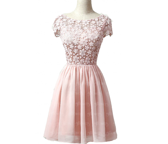 Pink homecoming dresses, modest homecoming dresses, cute homecoming ...