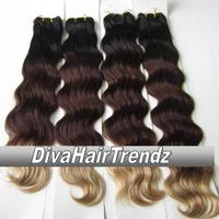 "12"" 14"" 16"" & 18""  Indian Remy 3 Shade Ombre [Colors 1b/33/4] [4 Bundles] - Thumbnail 1"