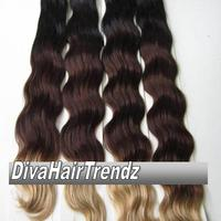"12"" 14"" 16"" & 18""  Indian Remy 3 Shade Ombre [Colors 1b/33/4] [4 Bundles] - Thumbnail 2"