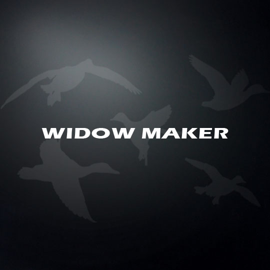 Widow maker shotgun barrel decal
