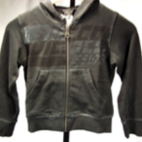 Diesel Sanite Hoodie Sweater, Zip Up, Black