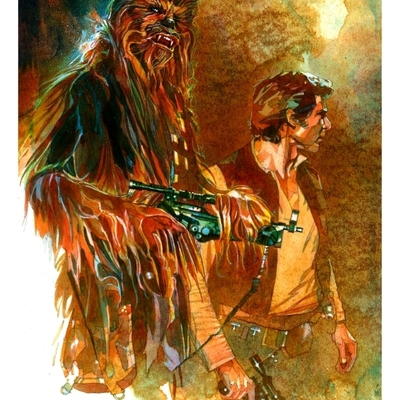 Let the wookiee walk ~ giclee artist proof prints
