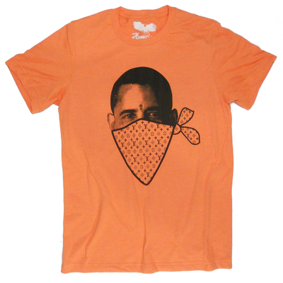 President obama t-shirt 'obizzle' (orange) by american anarchy brand