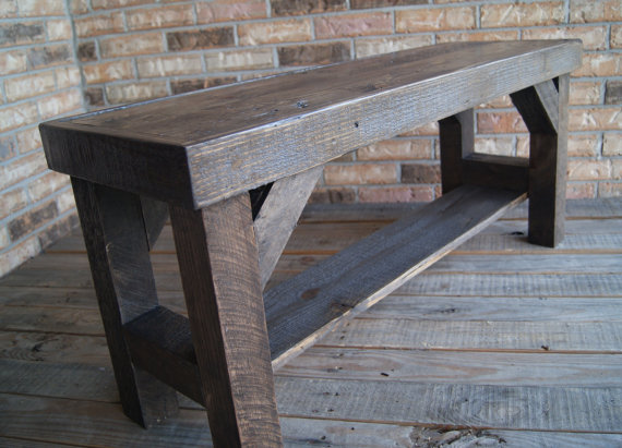 Reclaimed Entry Bench All Salvage Wood Rustic And Beautiful Not To Shabby On Storenvy