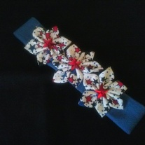 America's Stars Triple Flower Headband