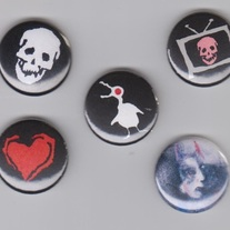 Art Pin Set Black Grey