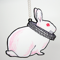 Ruffled Rabbit Necklace