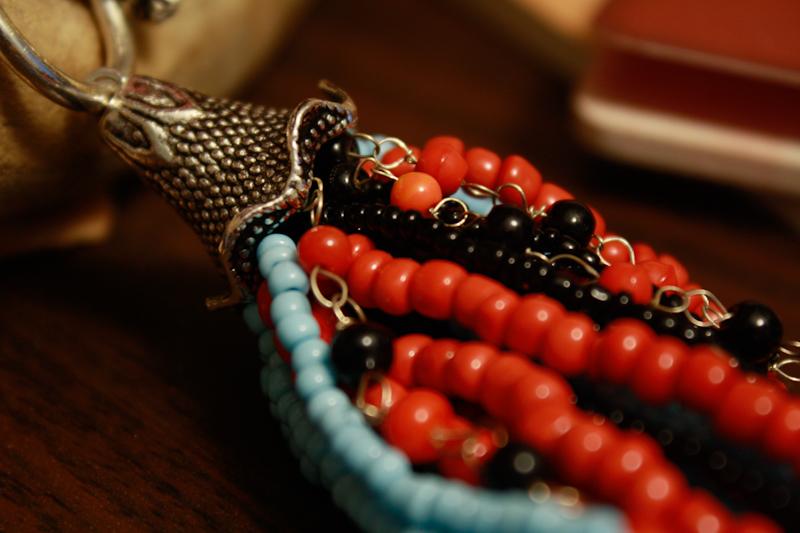 Orange black and blue koi colors silver necklace on storenvy for Orange and black koi