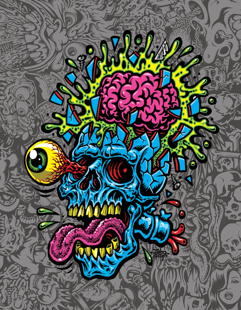 Skull Blast 8x10 Print 183 Jimbo Phillips Webstore 183 Online