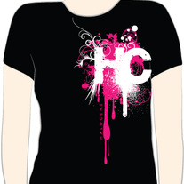 """HC"" Shirt Black w/ pink (CLOSEOUT ITEM)"