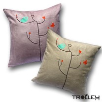 Spring Cushion Cover - Bird