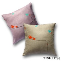 Spring Cushion Cover-Birdies
