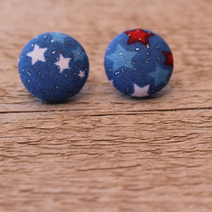 USA button earrings