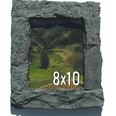 8x10 gray rock picture frame