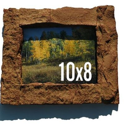 8x10 tan rock picture frame