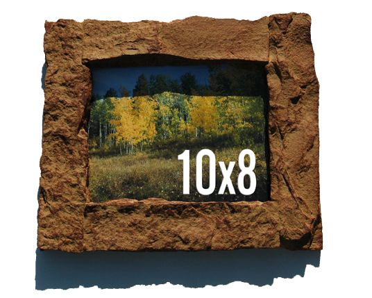 Rock\'n Frames | 8x10 Tan rock picture frame | Online Store Powered ...