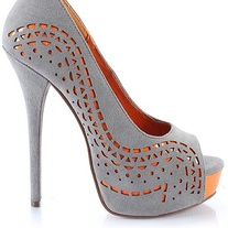 Gray + Orange Pump
