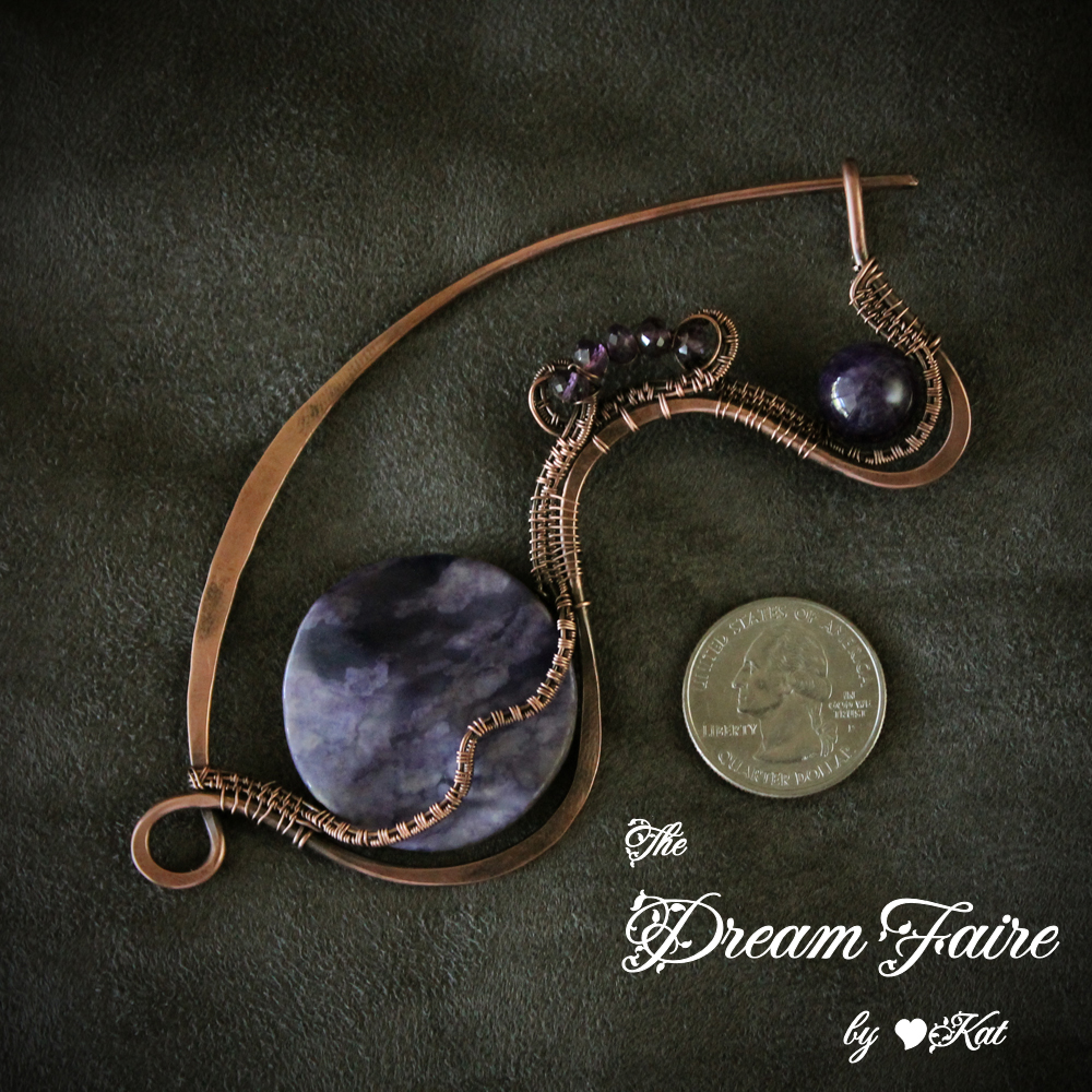 The Dream Faire · Colors of Purple - Lepidolite and Amethyst Woven ...
