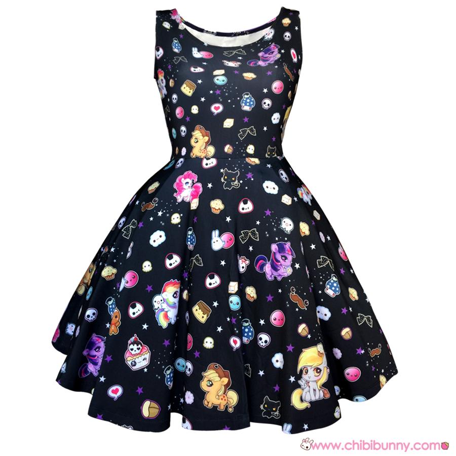 Little ponies - Cute kawaii skater dress and skirt - SD16 · Chibi ...