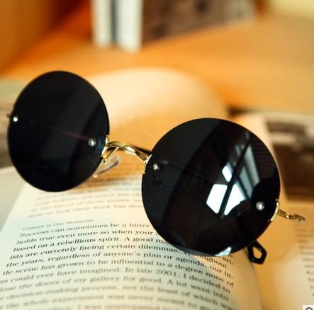 Round glasses rimless sunglasses on Storenvy