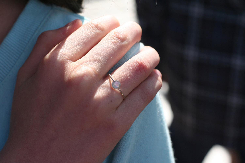 rainbow moonstone ring in 14k white gold moonstone engagement ring anniver moonstone wedding band Rainbow Moonstone ring in 14k white gold moonstone engagement ring anniversary precious gift