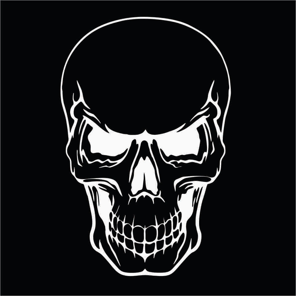 TWO Pack Of Custom Skull Face Vinyl Decals Stickers - Vinyl decals custompack of custom skull face vinyl decalsstickers thedecalking