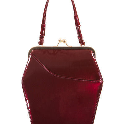 """to die for"" purse - burgundy"