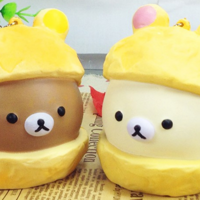 Rilakkuma cream puff squishies squishy cell phone charm