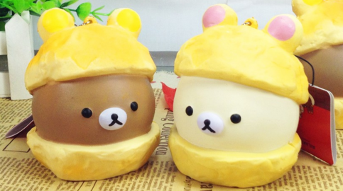 Bunny Cream Puff Squishy : Rilakkuma Cream Puff Squishies Squishy Cell Phone Charm ? Kawaii Squishy Shop ? Online Store ...
