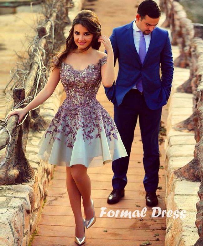 Purple Lace Formal Dress