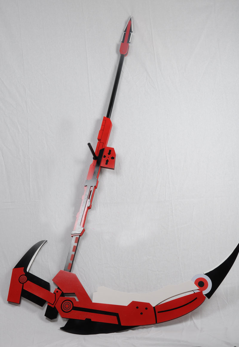 Rwby Ruby Crescent Rose Cosplay Scythe Weapon Prop