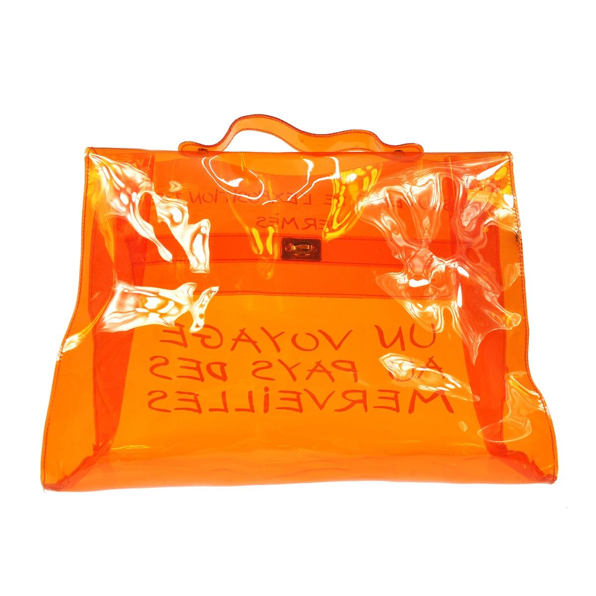 Hermes Souvenir de L'exposition 1997 Kelly in Orange Vinyl