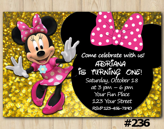 Minnie Mouse Birthday Invitation 236
