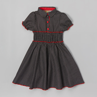 Bernette polka dot dress