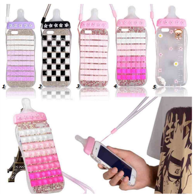 Iphone 6 plus, 6 - fancy bling mosaic baby bottle case in assorted colors