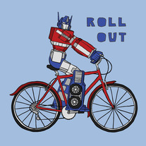 Optimus Prime, roll out, 8x8 print